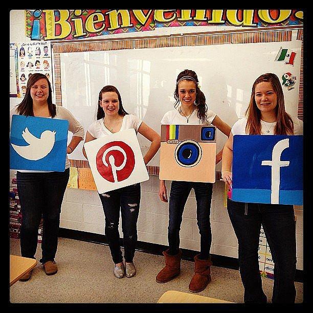 corrugated instagram facebook twitter halloween cardboard